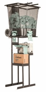 AirPouch compact overhead hopper and stand